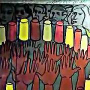 Ariosto Otero Mural en el metro Revolución