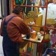 Trabajando en la Loteria para la Asistencia Pública, mural El Juego de la Fortuna